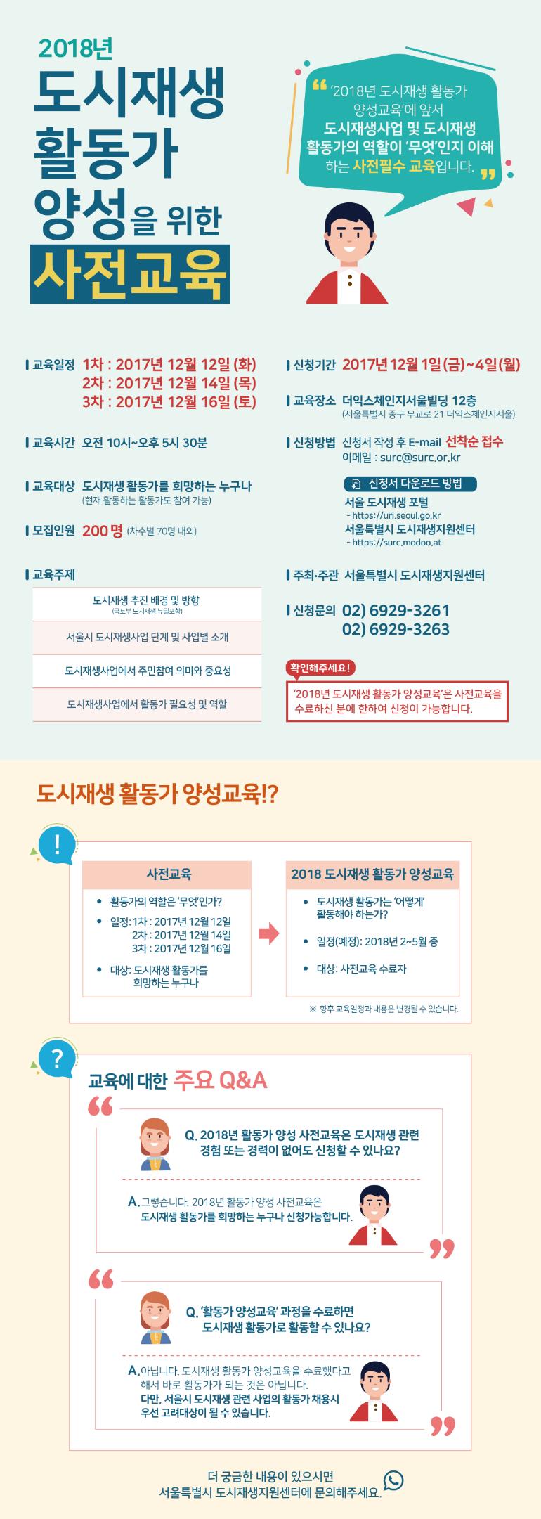 [2018년 도시재생 활동가 양성 사전교육]모집 및 시행 안내 포스터.png